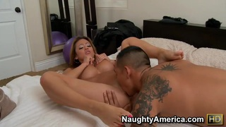 Hot blow job of Mia Lelani turns on Keni Styles and they proceed with a tough bang Preview Image