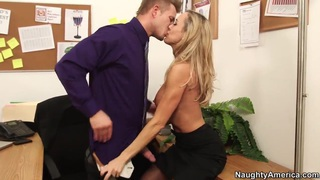 Hot office lady Brandi Love seduces her younger boss Preview Image