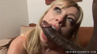 Pale blonde Adrianna Nicole teakes on monster cock Preview Image