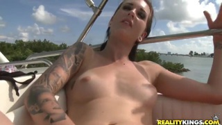 Lovely Sunshine riding a boat and masturbating her pussy very nice Preview Image