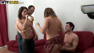 Tiny chicks love to take part in hot college orgies Preview Image