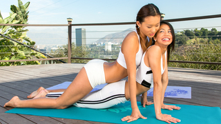 Yoga with two hotties Preview Image