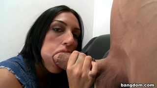 Amber Cox in Newbie comes in to show her skills with... Preview Image