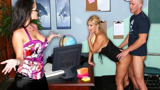Carmella Bing & Shyla Stylez & Johnny Sins in My First Sex Teacher Preview Image