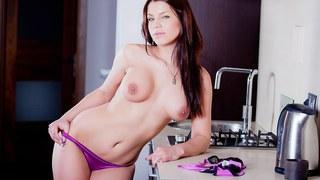 Angel Rivas rubs her twat in erotic art video Preview Image