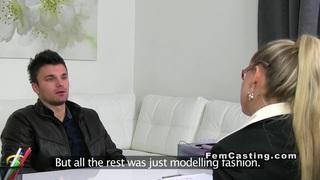 Female agent sucking on casting voyeur european Preview Image