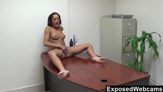 Chloe's Webcam Show At The Office Preview Image