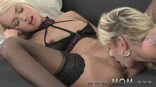 MOM Lesbian MILFs Kissing and Eating Pussy Preview Image