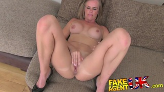 FakeAgentUK Deep throating and anal from shy amateur Preview Image