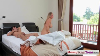 Busty milf pussyfucked in trio Preview Image
