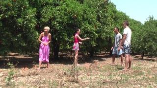 Margo & Aspen & Jocelyn in hot babe gives head in an outdoor sex scene Preview Image