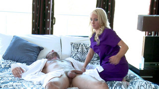 Alix Lynx comes over to Danny's house to give him a massage Preview Image