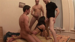 Layla & Lola & Ruby & Sunny in sexy student girl_gets_ravished in a hot threesome Preview Image