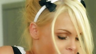 Big boobs blondie maid Jesse Jane fucked hard by her master Preview Image