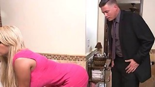 Booby Bridgette B fucked and facialed in the bathroom Preview Image