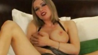 Busty amateur blonde milf finger her pussy and show us her nice tits Preview Image