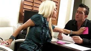 Hot Nikita Von James sucking cock in the office Preview Image