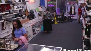 Amateur Giving Blowjob at the_Pawnshop Preview Image