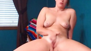 Cute Girl Rides_A Dildo At Home Preview Image