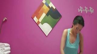 Asian massage babe Amber Q handjob Preview Image