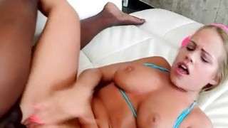 Teen Britney Young takes big black cock Preview Image