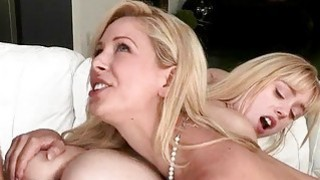 Lucy Tyler and Cherie Deville 3some session in bed Preview Image