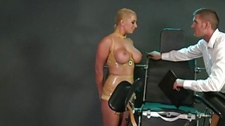 Huge tittied sub gets cunt vibed in bdsm Preview Image