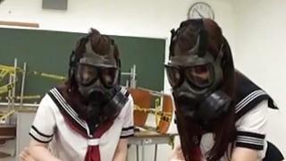 CFNM Gas Mask Japanese Schoolgirls Subtitles Preview Image