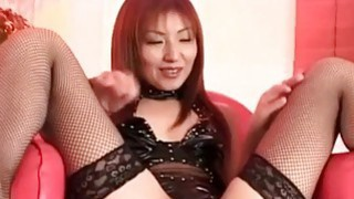 Hitomi Ikeno gets sex toys in and on hairy slit Preview Image