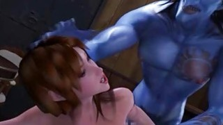 3D Busty Girl Destroyed by Monsters! Preview Image