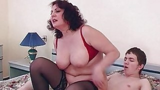 Hottie Brunette Stepmom Fucks Her Stepson In Bed Preview Image