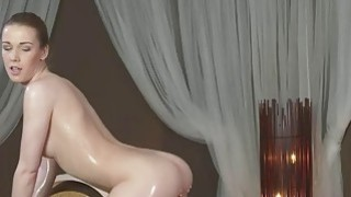 sucking cumshot - Masseuse rides and sucks oiled cock till cumshot Preview Image