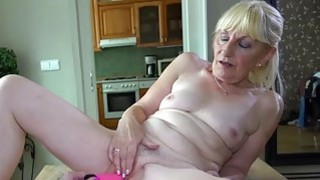 OldNanny Lesbian on the table masturbation Preview Image