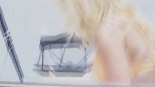 Fucking blonde bikini babe on boat Preview Image