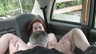 European redhead gets fucked by fraud driver in the cab Preview Image