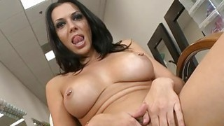 Playgirl performs a_footjob mixed with handjob Preview Image