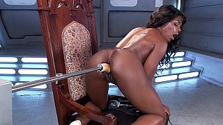 Slutty black babe extreme machine pussy sex Preview Image