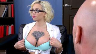 Busty teacher Harlow Harrison masturbates in Dean Johnny Sins's office Preview Image