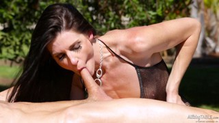 MILF India Summer creampied on the milking table Preview Image