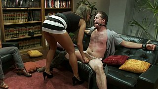 Convivial wife cuckolds her husband while neighbor watches Preview Image