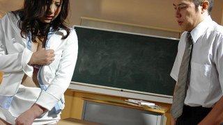 Horny Asian teacher Jun Sena is a total whore Preview Image