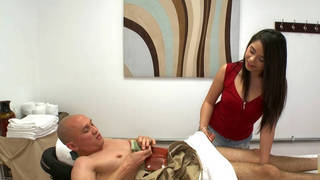 Enjoying his massage to the fullest Preview Image