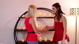 Gorgeous Ashley Fires massages Riley Reids brunette bush Preview Image