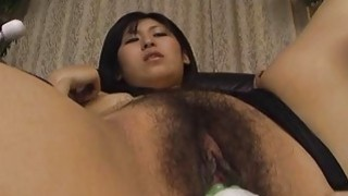 Asian kamikaze girl getting her muff toy fucked Preview Image