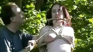 Outdoor nettles bdsm and bbw slave girls garden Preview Image