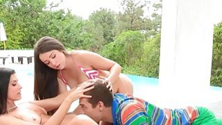 Lola Foxx and_India Summer amazing threesome_outdoors Preview Image