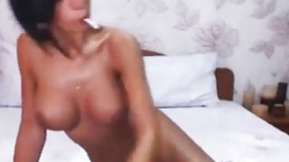 Busty Beauty Brunette Plays With Her pussy Preview Image