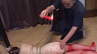 Voluptuous Japanese BDSM hot wax on big butt Preview Image