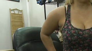 Busty and big ass babe gets her twat fucked by pawn guy Preview Image