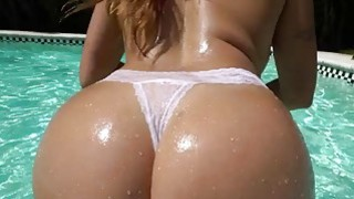 Big Ass Julianna Vega fucked by the pool Preview Image